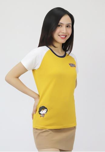 Wonder Woman DC Comics yellow Ladies' Chibi Wonder Woman Raglan Graphic T-shirt AB5F8AAE554319GS_1