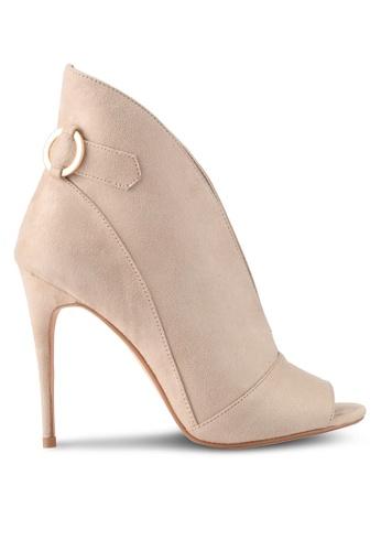 ZALORA beige High Cut Classic Heels D31B6SH336DCEEGS_1