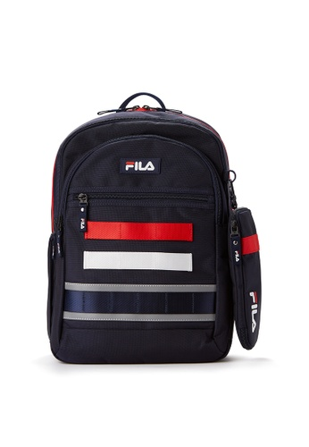 FILA navy FILA KIDS Colour Block Backpacks 7CBE3KC0D09261GS_1