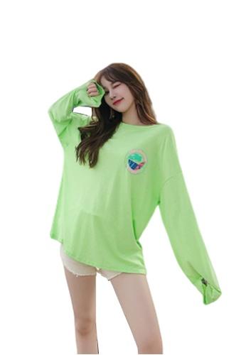 LYCKA 綠色 BC1075海灘度假外罩衫綠色 76F97USA839ABEGS_1
