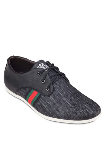 暗紋條紋拼接運動鞋、 鞋、 鞋Albertini暗紋條紋拼接運動鞋最新折價