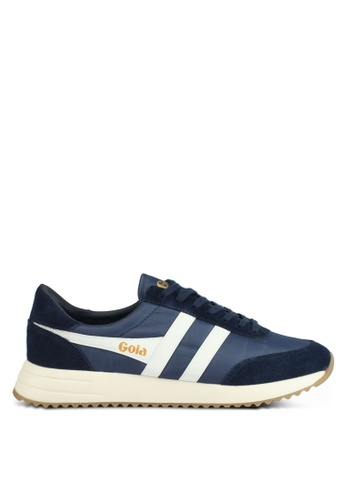 Gola white and navy Montreal Sneakers 1AB68SH7A12E9FGS_1