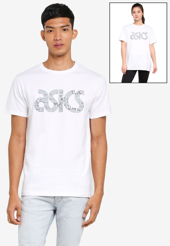 ASICSTIGER white Graphic Tee AS610AA0SVTIMY_1