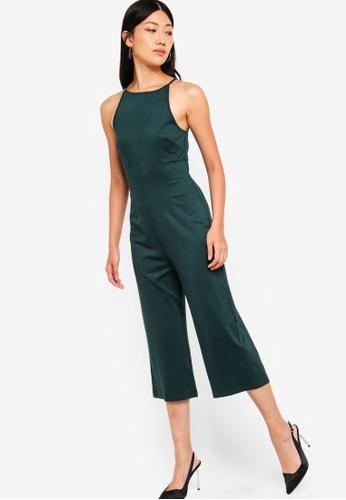 ZALORA green Wide Legged Jumpsuit 989F5AA33947D7GS_1
