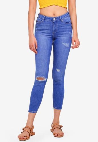Miss Selfridge black Petite Buzzy Blue Lizzie Jeans 0CDBCAAB7C0B88GS_1