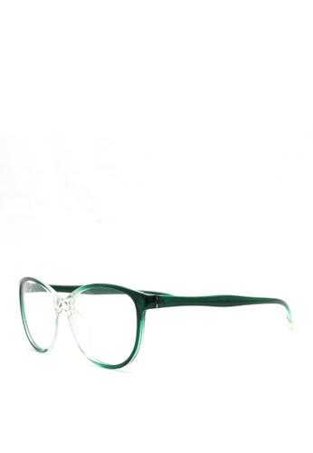 Kaca Kaca Vera Green Transparent Eyeglasses