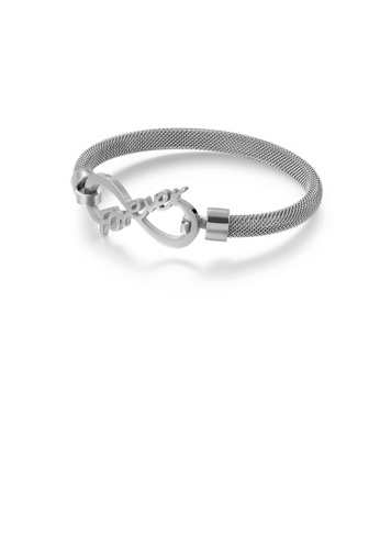 Glamorousky silver Fashion and Simple Infinity Symbol 316L Stainless Steel Bangle 5FD19AC7ACEF69GS_1