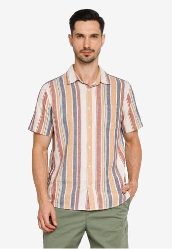 GAP multi Short Sleeves Linen Cotton Shirt 778F4AABAF18F3GS_1