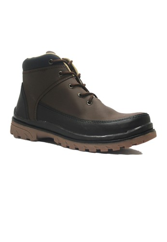 Cut Engineer brown Cut Engineer Safety Boots Venture Leather Dark Brown CU226SH69JCCID_1