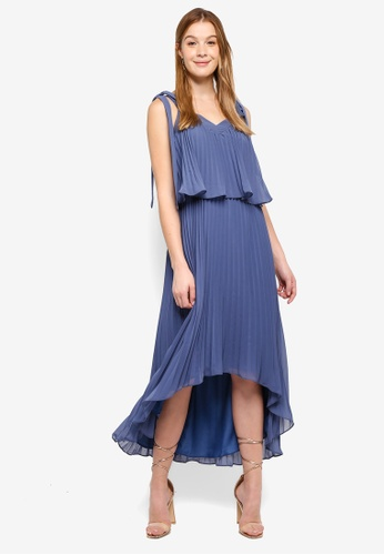 True Decadence blue Pleated Midi Dress 83AF9AA823115EGS_1