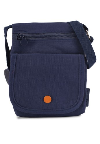 Bagstationz navy Multi-Compartment Crossbody Travel Pouch 4CF8BACC3161AAGS_1