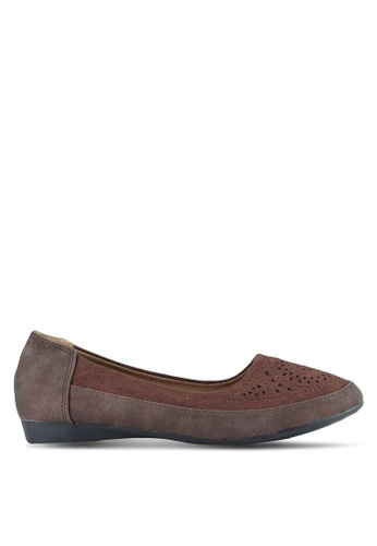 Louis Cuppers brown Faux Suede Shoes LO977SH0S9SPMY_1