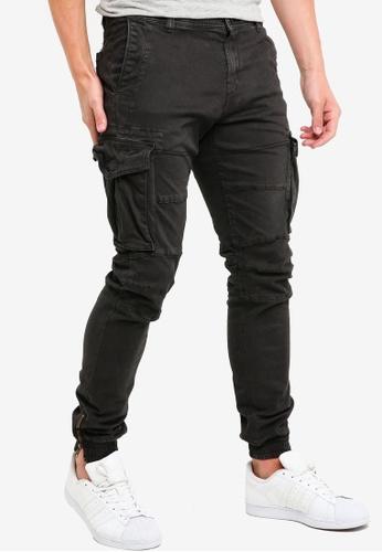 Indicode Jeans 黑色 緊身縮口褲 D99ADAA1661171GS_1