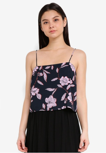 Cotton On navy Pippa Chopped Cami Top AB935AAA797581GS_1