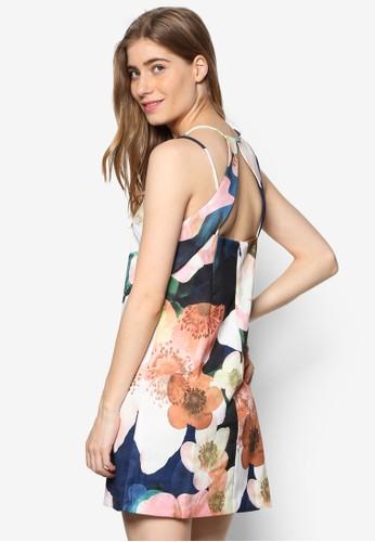 Chapstelesprit高雄門市l 雙肩帶挖背印花洋裝, 服飾, 洋裝
