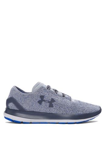 Under Armour grey UA SpeedForm Slingride Tri Shoes UN337SH07KDKMY_1