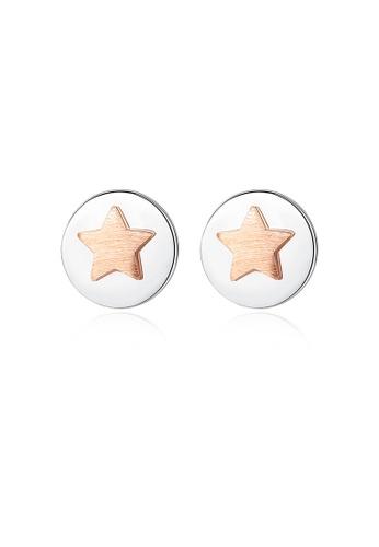 SUNRAIS silver High quality Silver S925 silver star earrings D3F01AC34EF461GS_1
