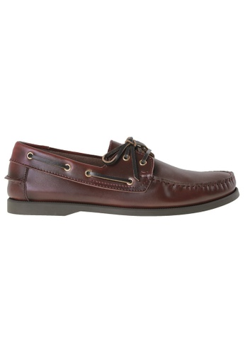 Tomaz red Tomaz 972-5D Leather Boatshoes (Wine) TO717SH87LPWMY_1