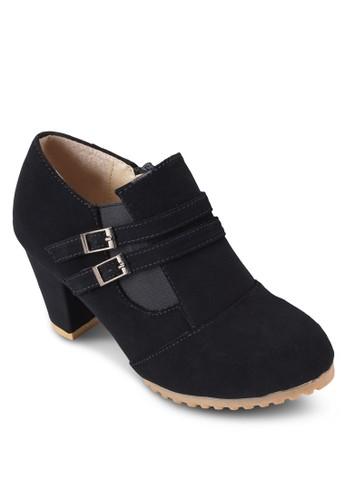 雙扣環粗跟踝靴esprit 工作, 女鞋, 靴子