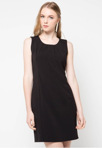 WHITEMODE black Arabella Dress WH193AA49PSWID_1