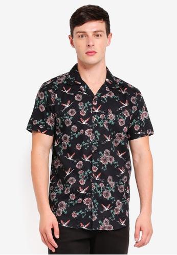 Brave Soul black Short Sleeve Button Shirt 6D2C8AAB16DEBFGS_1