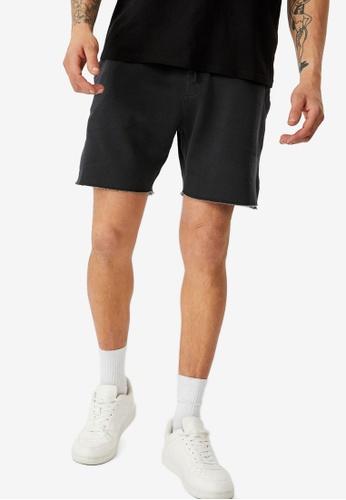 Cotton On black Pigment Fleece Shorts D2D44AA5F29F42GS_1
