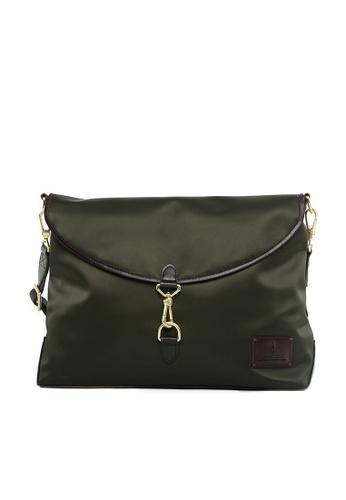 Gnome and Bow brown and green and beige Kensington Messenger GN097AC73LBUSG_1