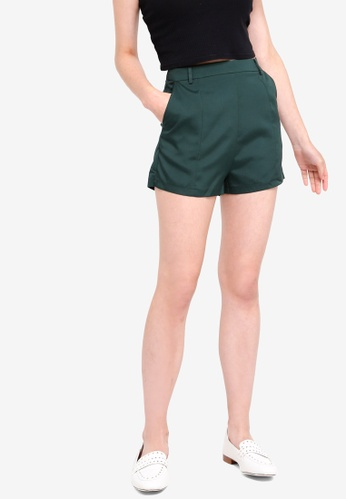 Something Borrowed green Tailored Shorts EE67CAA92D3E52GS_1
