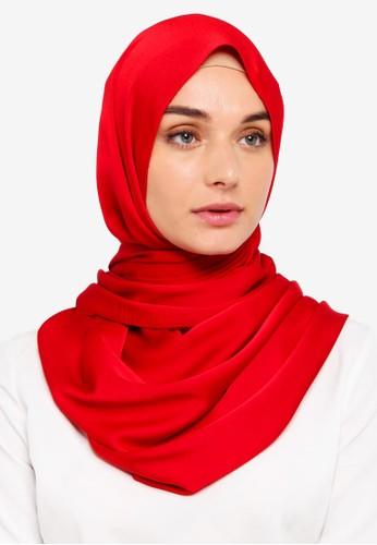 VERCATO red Premium Luxe Satin Shawl 5862FAABE5C764GS_1