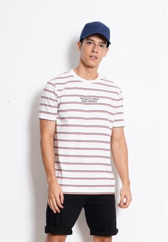 Hi Style white Graphic Short Sleeve T-Shirt 5A59CAA9B7CD14GS_1