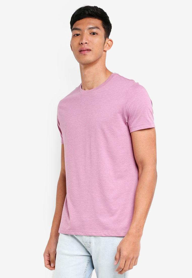 Shirt Crew Burton Orchid Pink Neck T Pink London Menswear K5qIUq