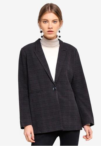 ESPRIT grey Woven Regular Blazer DE1E8AA421A95BGS_1