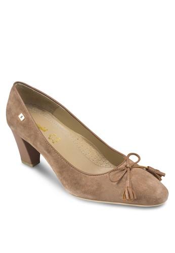 Charlotzalora鞋子評價te 2 蝴蝶結尖頭粗跟鞋, 女鞋, 鞋