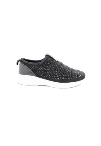 prettyFIT black Black Lycra Slip-On Sneakers With Crystals A35A7SH4781695GS_1