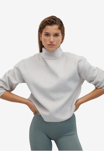 Mango grey High Collar Sweatshirt 4C0B5AA93C125DGS_1