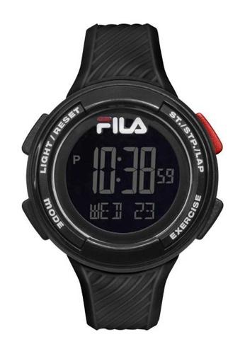 FILA Watches black Fila Digital Black Rubber Watch 14443AC251F32BGS_1