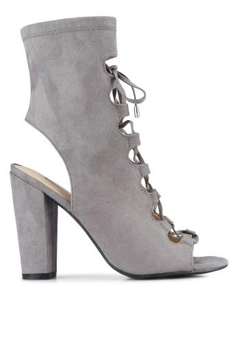 Guess grey Lace Up High Cut Heels GU020SH0S7LCMY_1