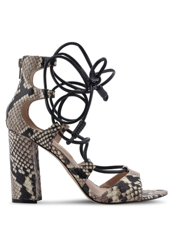ALDO multi and brown Miadia Caged Block Heels 725DCSHDFC4959GS_1