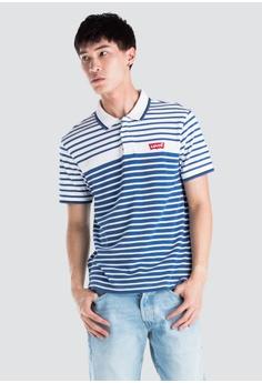 de9a8b09c73 Levi's blue Levi's Modern Housemark Polo Shirt CEDA8AAF607B95GS_1