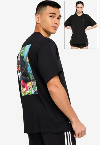 ADIDAS black manga short sleeve tee (gender neutral) 618A6AA6A5F161GS_1