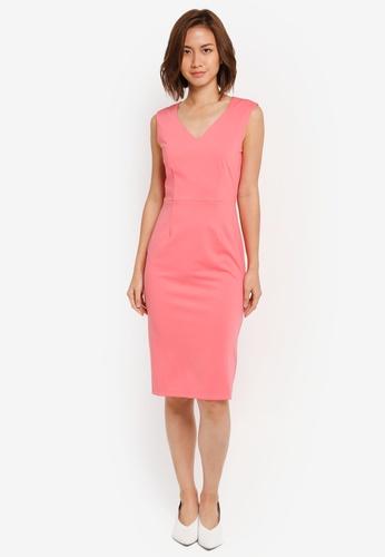 ZALORA pink Sweatheart Dress 65F02AAFF1FBF4GS_1