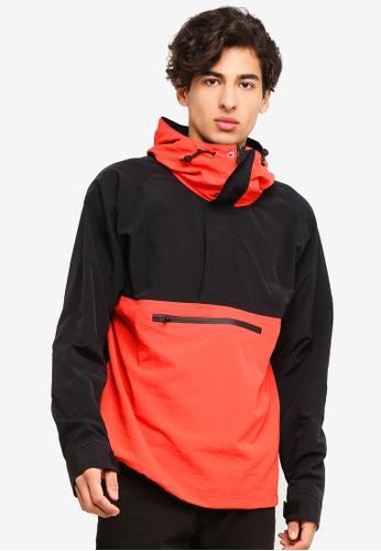 Topman 多色 紅色 And 黑色 Overhead 風衣外套 13493AABE68168GS_1