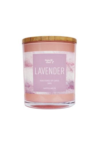 Happy Island purple Lavender Candle 10oz 6686FHLC04209BGS_1