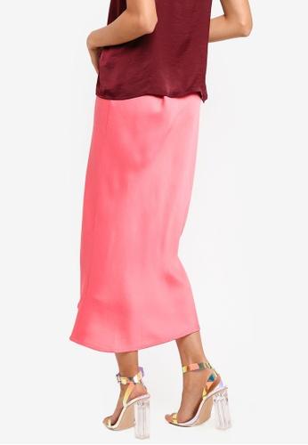 82dbedb569e Buy TOPSHOP Satin Bias Midi Skirt | ZALORA HK