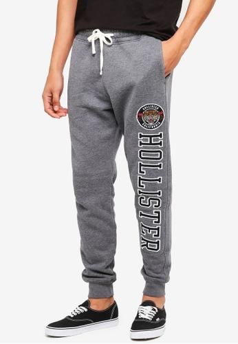 Hollister 灰色 Skinny Logo Sweatpants 4CF6FAA3562B1EGS_1