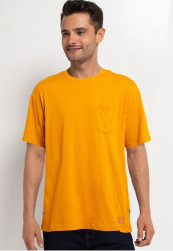 Converse yellow Renew Oversized Pocket Tee BFC6BAA5E436DDGS_1