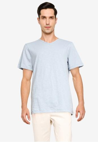 Cotton On blue Slub Crew Neck Tee BCBA2AAD0CECD5GS_1