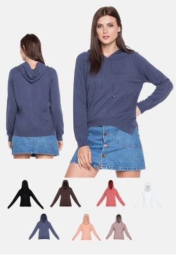 Chase Fashion blue Ultra Soft Comfy Basic Hoodie B3391AAB910E31GS_1