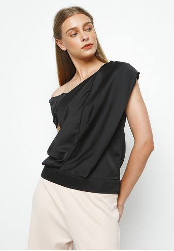 Goya Studio black Shirin Top D74F9AA3371A2FGS_1