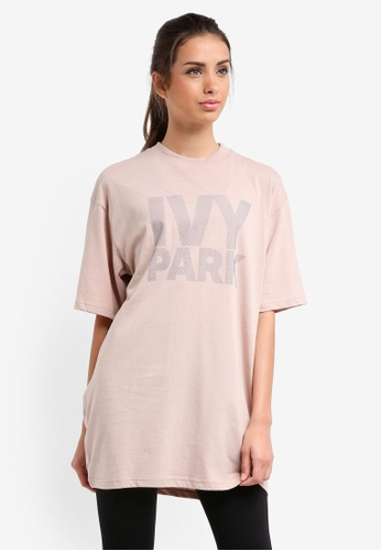 Ivy Park beige Dots Logo Fitted Tee 8FE09AA6F3625FGS_1
